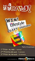 Win gift vouchers worth Rs. 1000  in Rs. 10