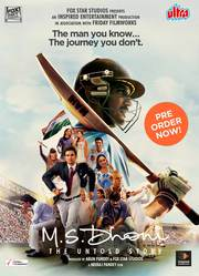 Buy M S Dhoni Film VCD,  DVD & Blu Ray Online at Ultra